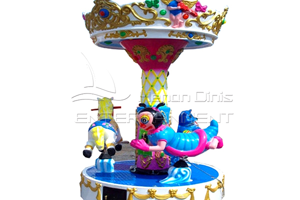 3 horse mini ride on merry go round for sale