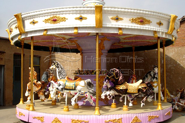 Classic Amusement Carousel Rides Manufactured by Dinis