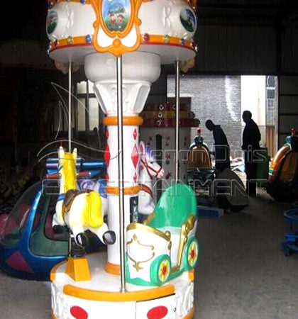 cute animal 3 horse kids carousel for sale